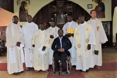 la messe d'action de grâce pour Patrick TALOM, camerounais, premier laïc consacré masculin dans la Congrégation