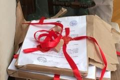 les documents d'emballage des Actes conservés dans les archives de la PM.