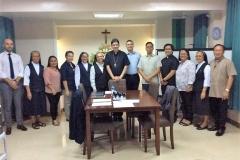 Les membres du Tribunal diocésain et la communauté.