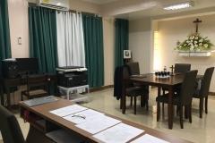 La salle d'enquête diocésaine.